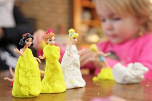 play doh on dolls